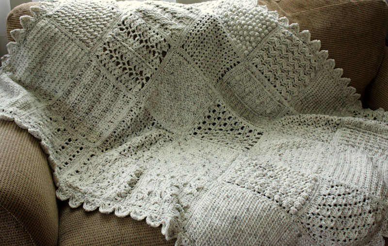 Crochet Stitches Sampler : Sampler Afghan