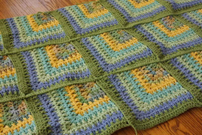 Free Crochet Mitered Square Afghan Pattern ~ manet for .