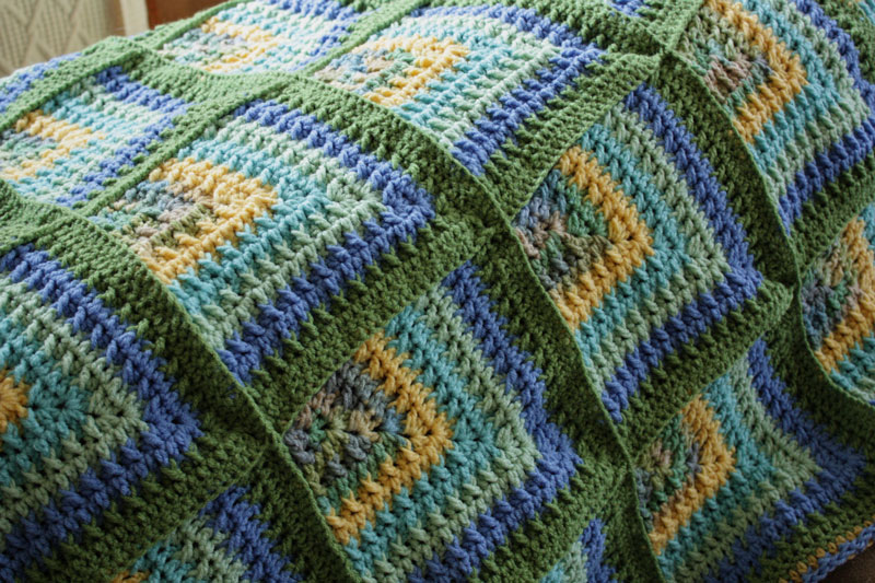 Free Knitting Pattern Mitered Afghan : k n i t t i n g p a r k: October 2010