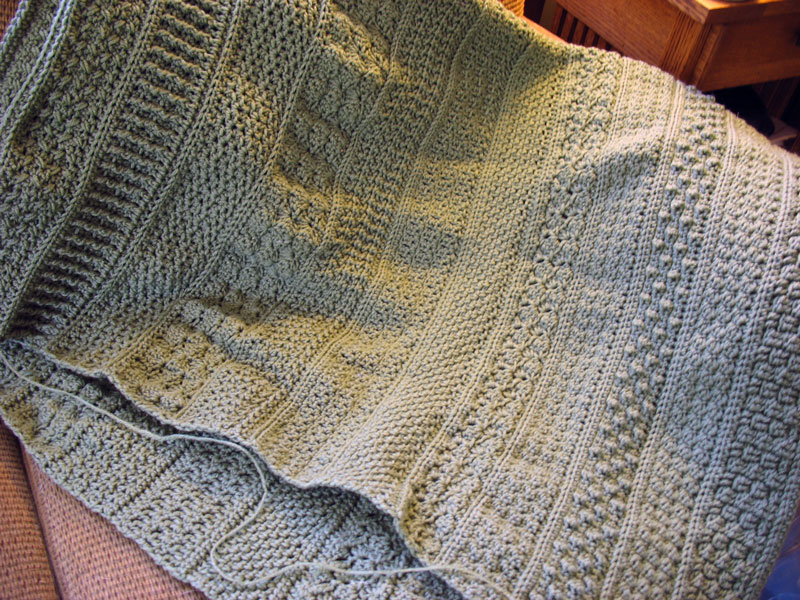 Crochet Afghan Patterns N Hook : Aran Crochet Afghan Pattern Design Patterns